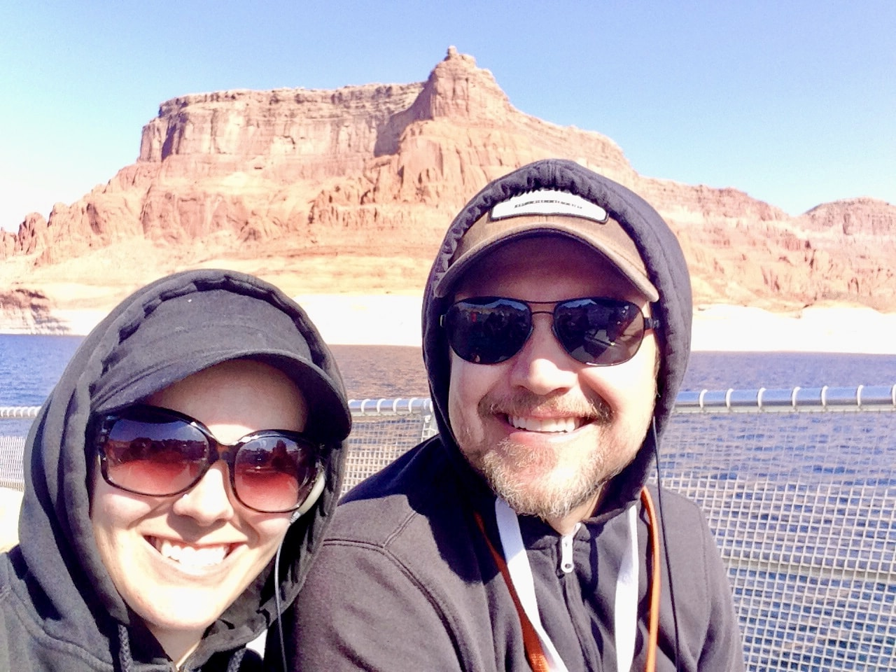 Briana & Hubby on Lake Powell Boat Tour for Rainbow Bridge