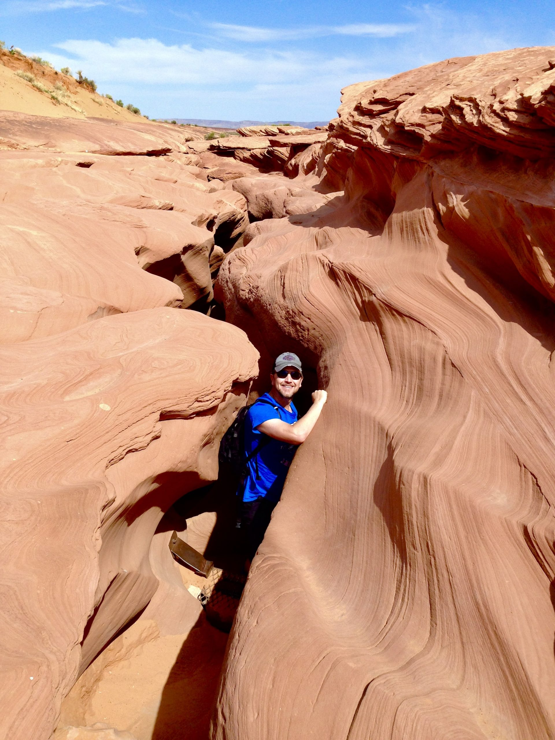 Emerging from Lower Antelope Canyon