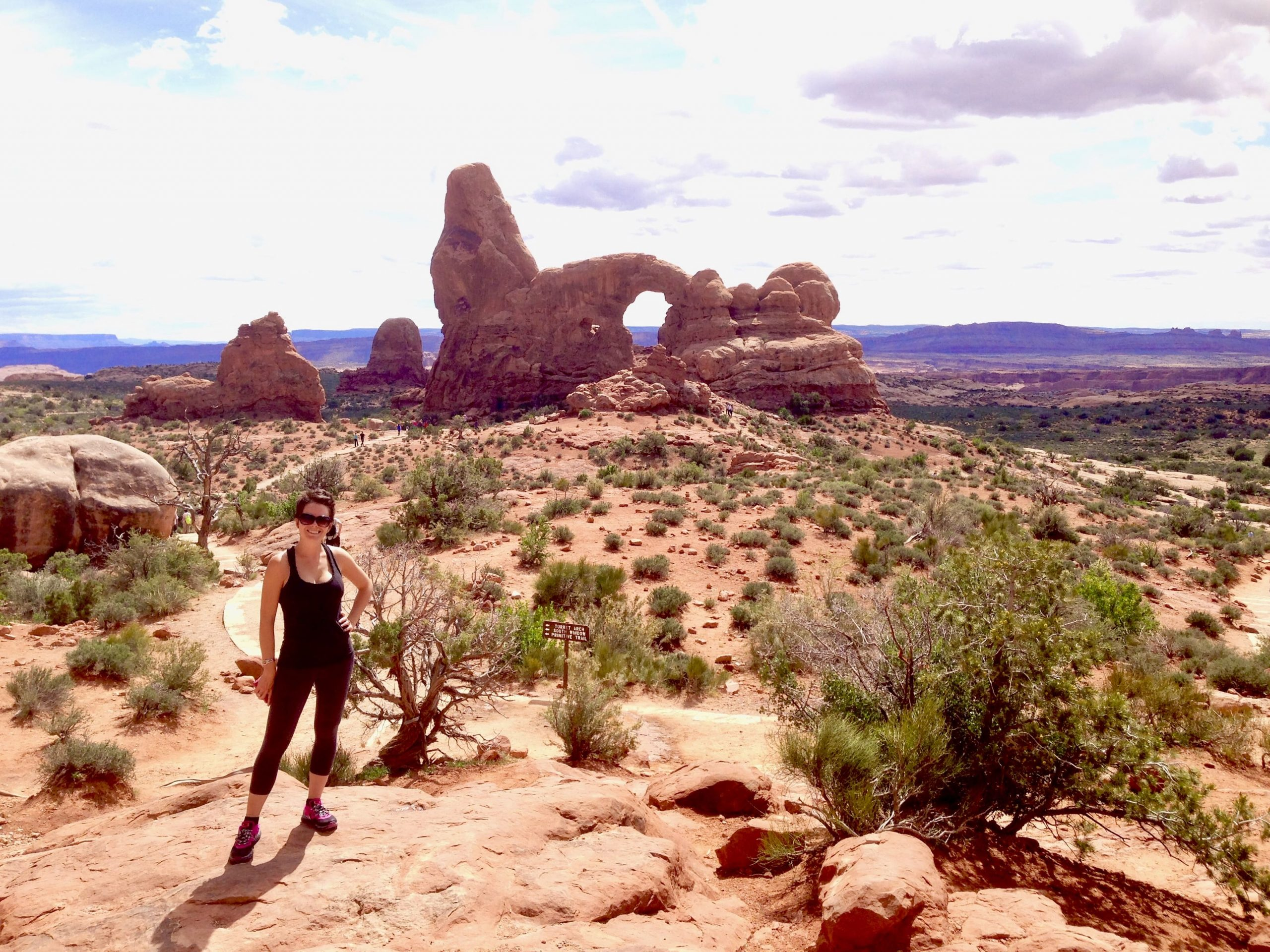 Hiking at Arches National Park on Utah National Parks Road Trip