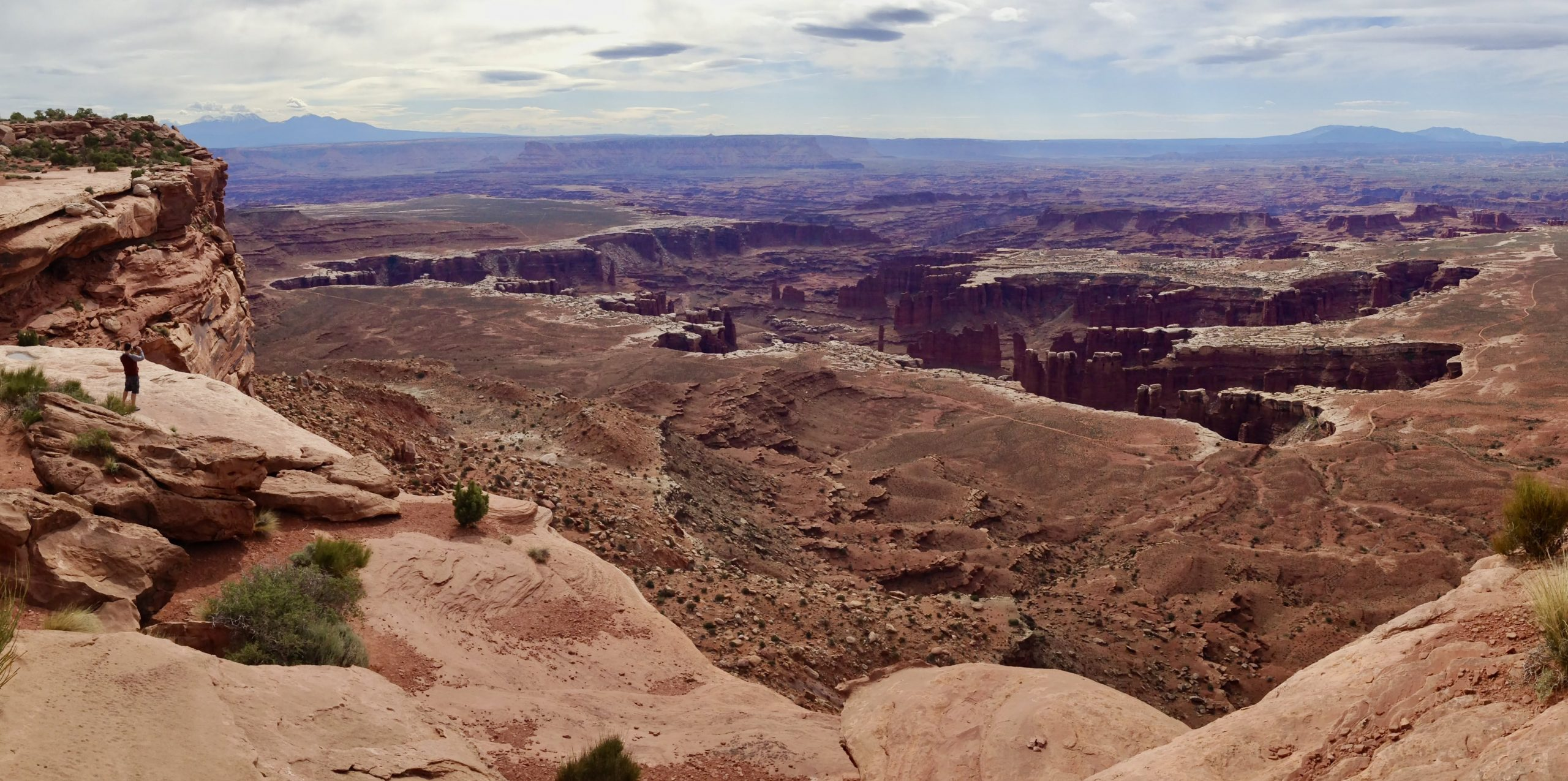 Panoramic Grand View Point at Canyonlands National Park