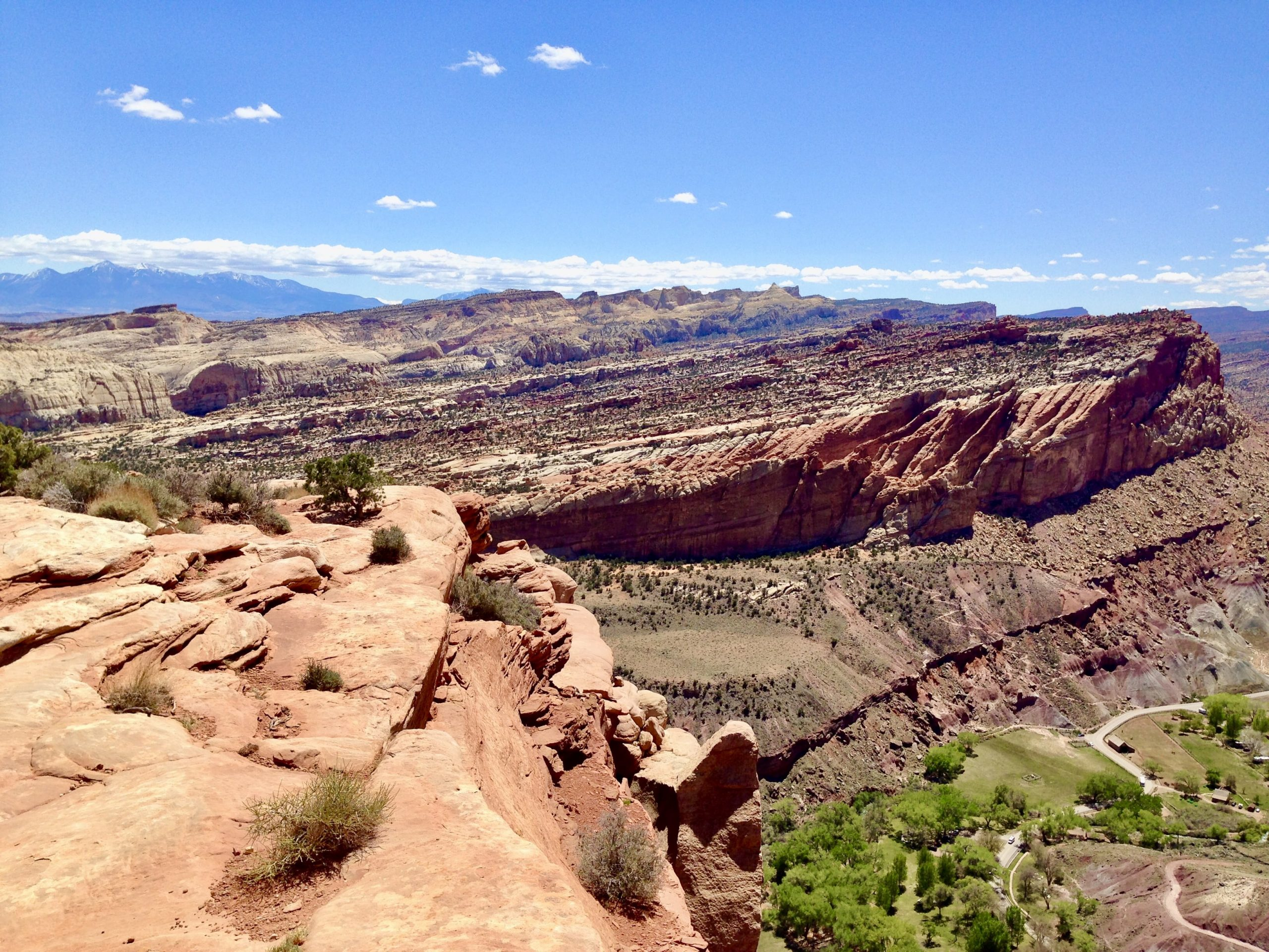 View from Hickman Bridge Trail in Capitol Reef National Park
