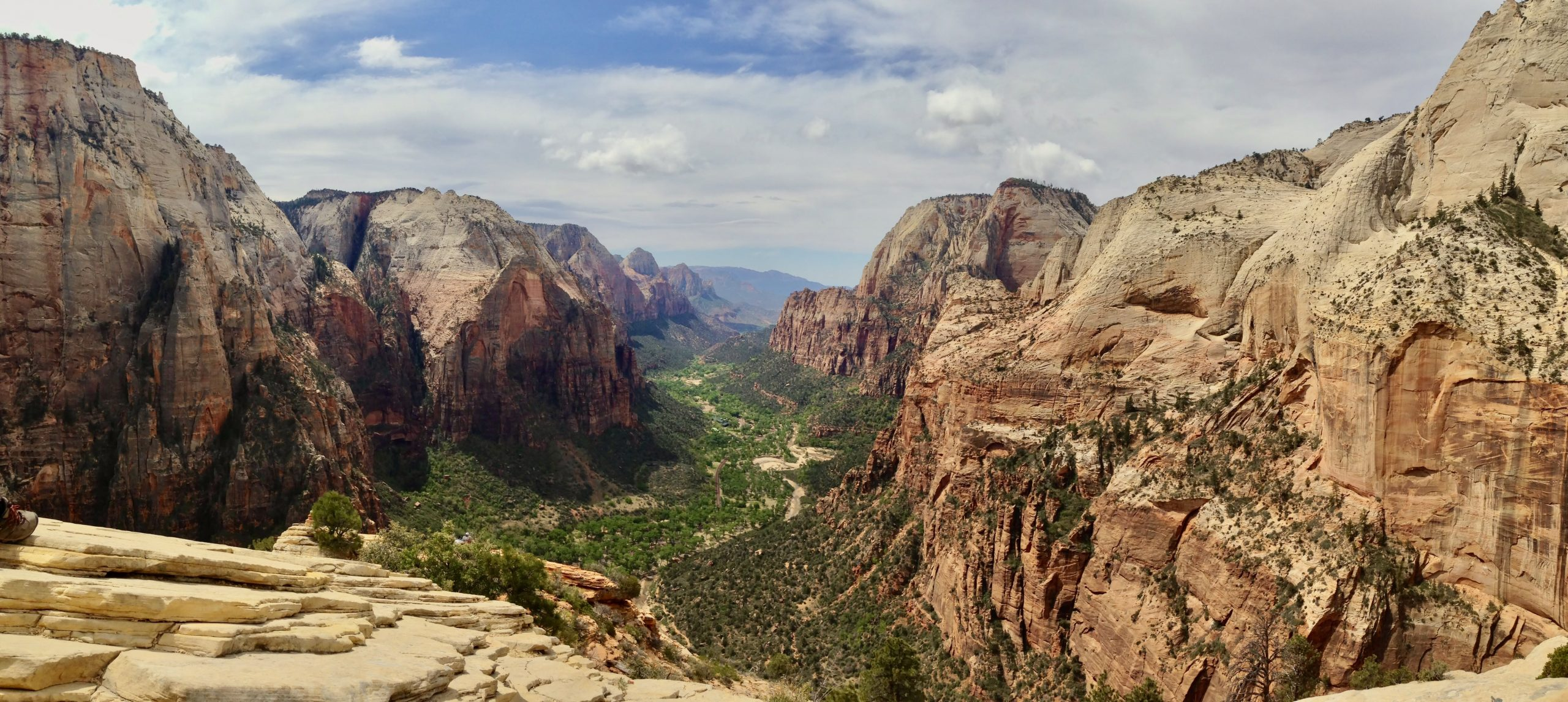 View from the Top of Angel's Landing at Zion National Park