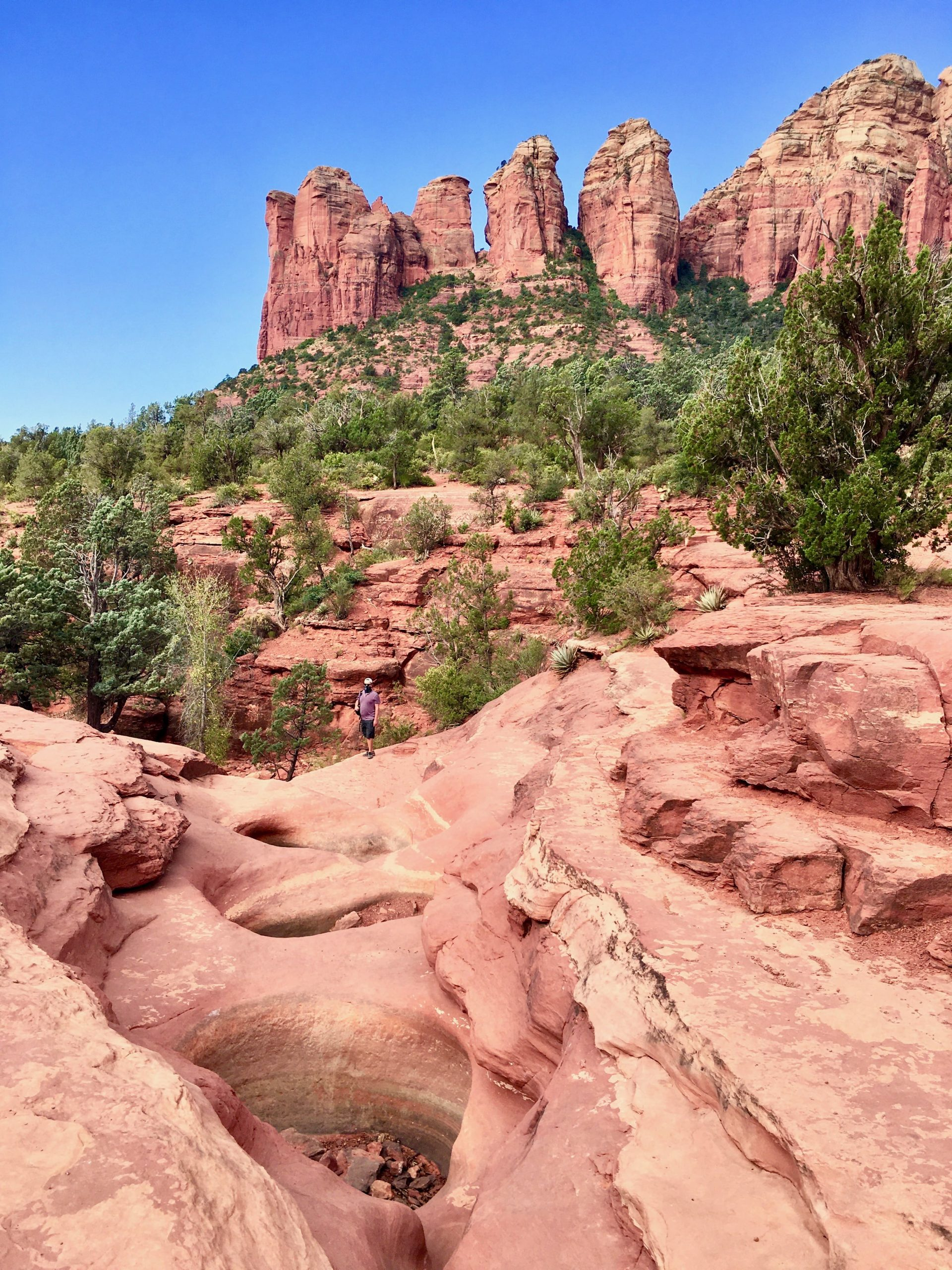 The Seven Sacred Pool on the Soldier Pass Trail in Sedona AZ