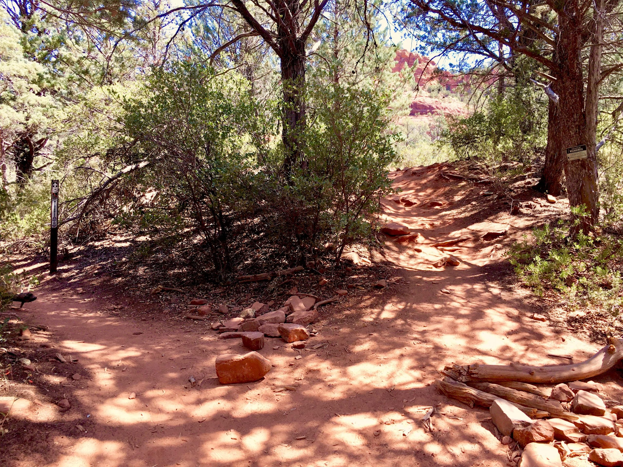 Turn Off on RIGHT from Soldier Pass Trail to Soldier Pass Cave in Sedona