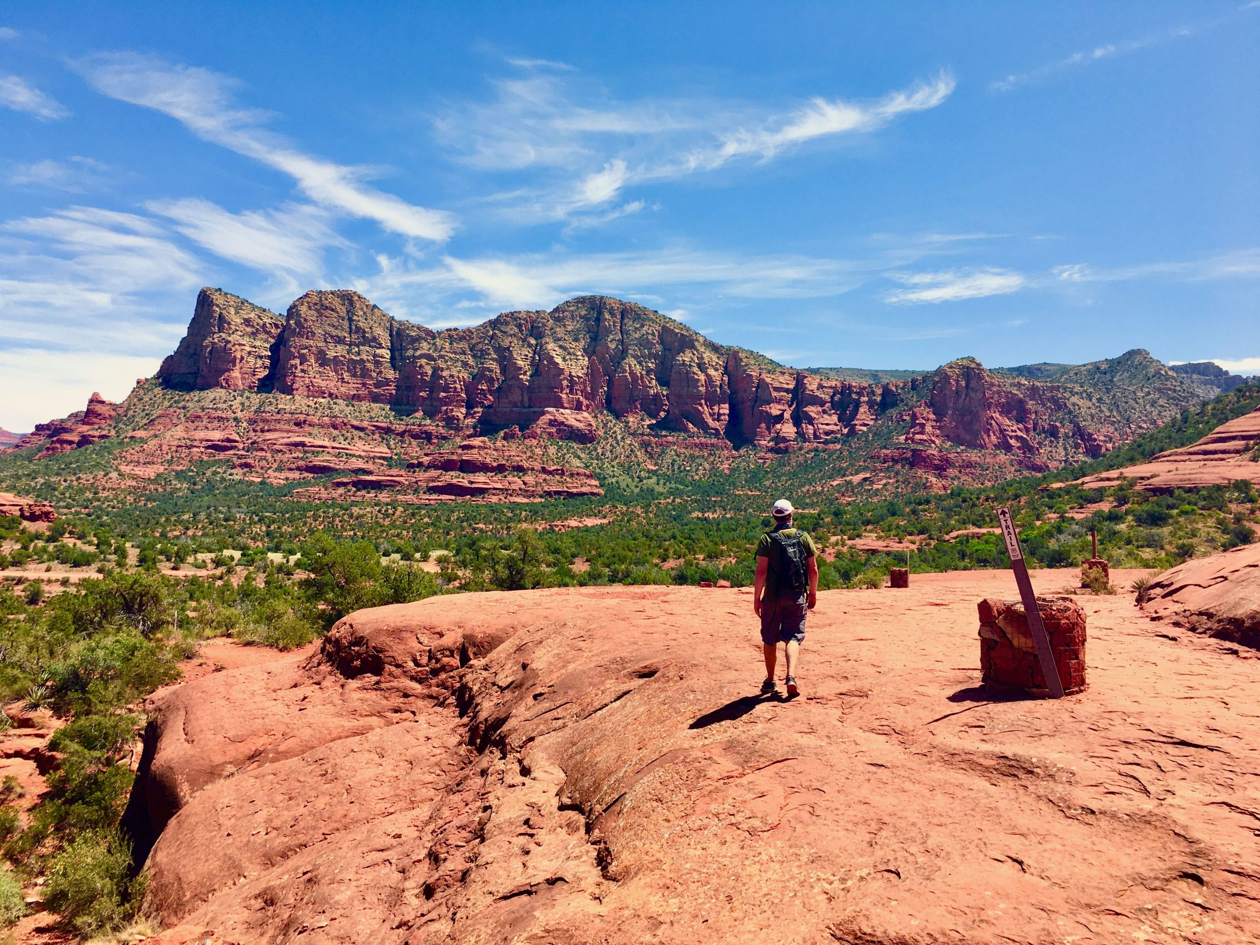 Justin on the Bell Rock Trail Sedona
