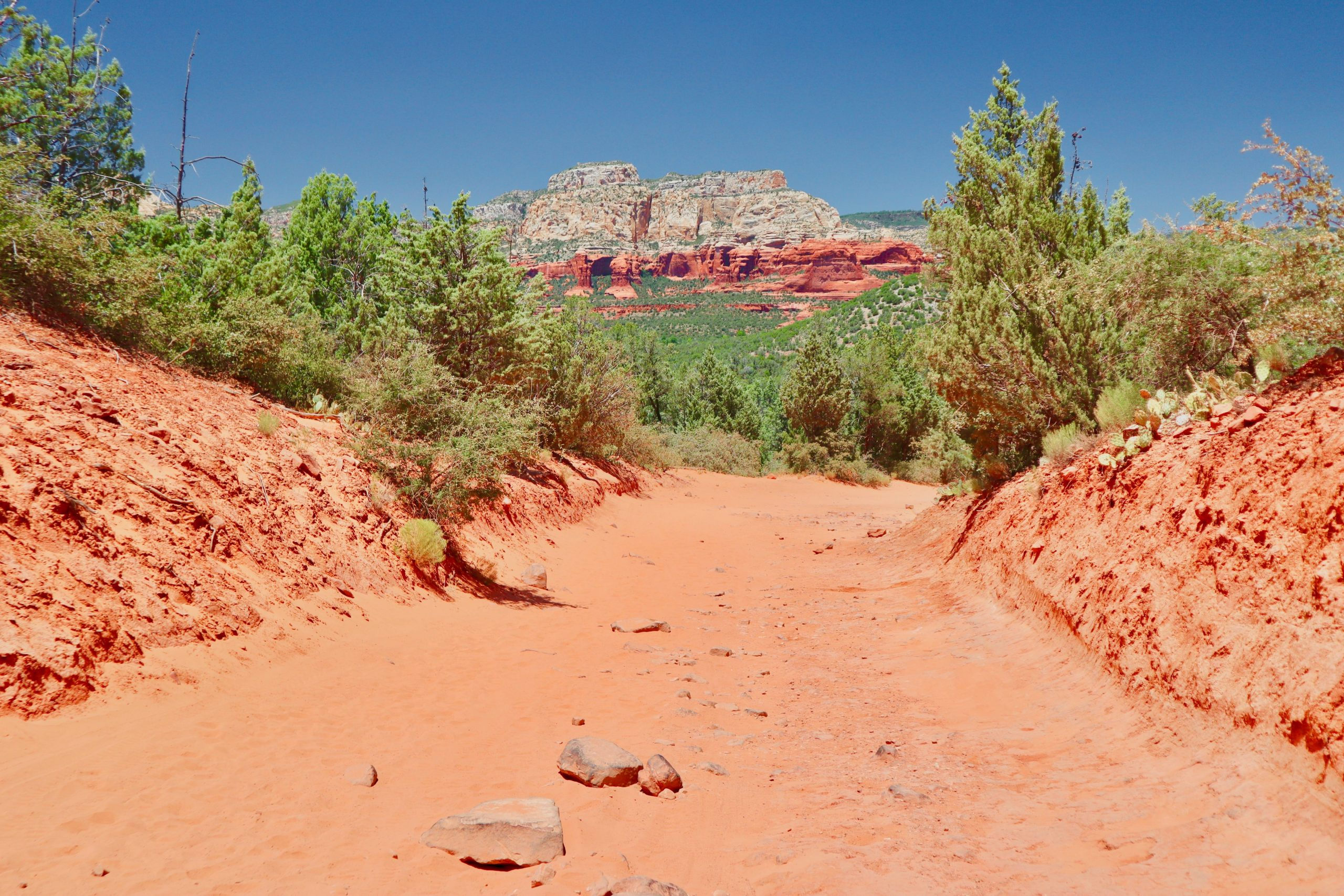 Road to Devil's Bridge Trailhead in Sedona
