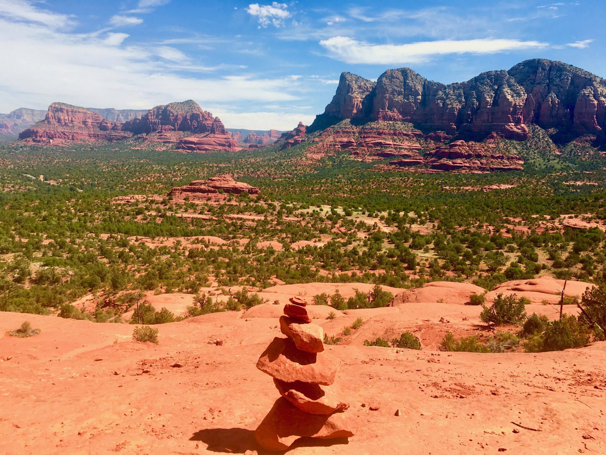 Rock Cairn on Bell Rock Trail Sedona
