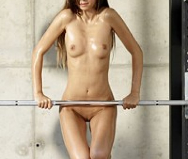 Sexy And Petite Brunette Nikola Works Out Nude Pic  Pic