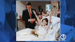 Woman takes her wedding vows just hours before cancer takes her life