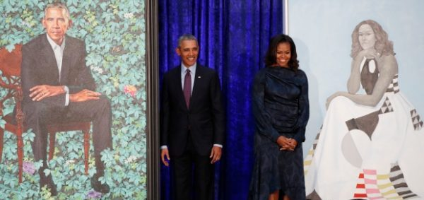 The Obamas unveil official portrait by Nigeria's Wiley