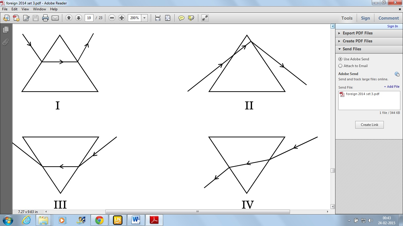 Identify The Diagram Which Shows The Correct Path Of A Ray