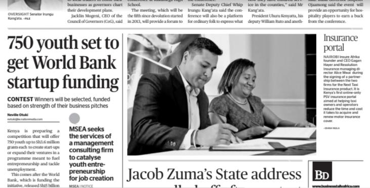 News - Resolution Insureafrika partnership - NEXT Taxi Insurance Launch