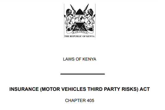 Motor Vehicles Third Party Risks Act Kenya