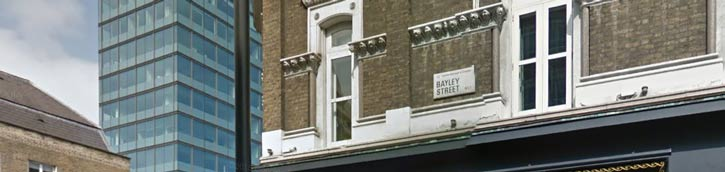 Office of accountants in London Bayley Street