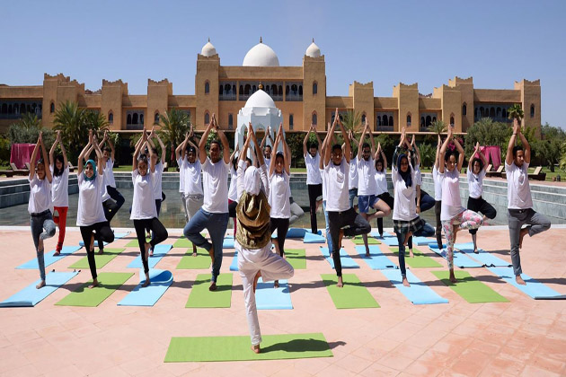 The 2nd International Yoga Day celebrated in Morocco
