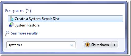 system repair disc