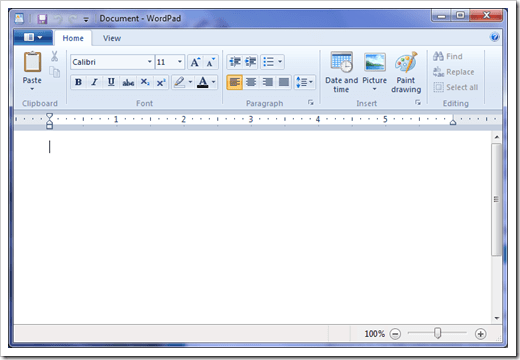 wordpad windows 7