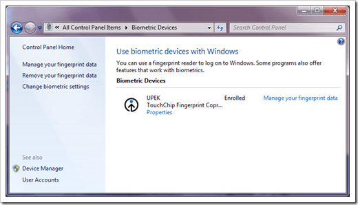 TOSHIBA BIOMETRIC COPROCESSOR DRIVER FOR WINDOWS