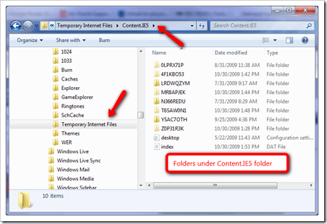 Where is the Temporary Internet Files Folder Located in Windows 7