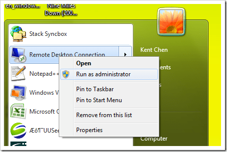 how to run windows 7 as administrator all the time