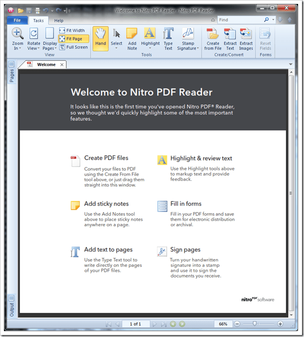 Nitro Pdf Reader Freeware