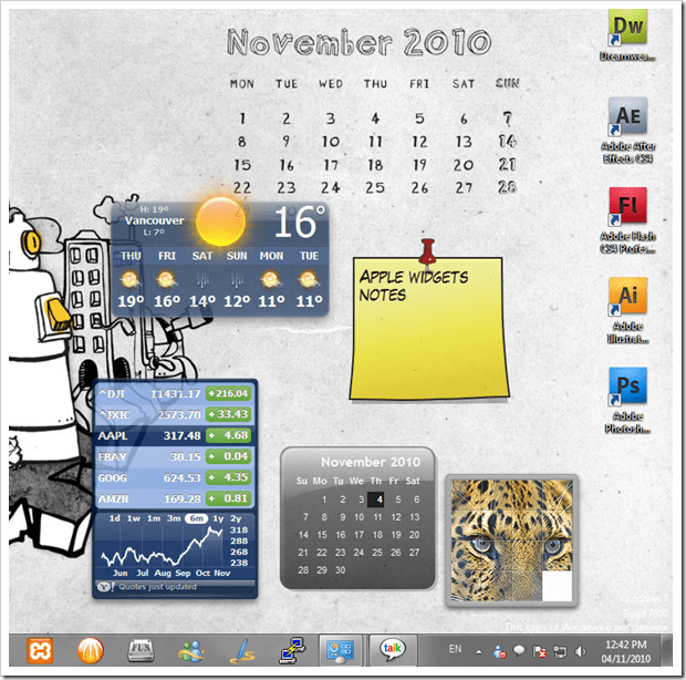 apple widgets on windows 7