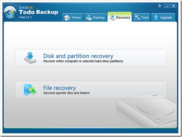 easeus todo backup recovery disk