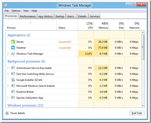 how to close all running apps in windows 10