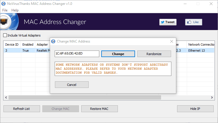 How To Change MAC Address on A Network Adapter on Windows