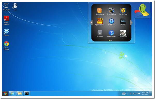 run android app on windows 10