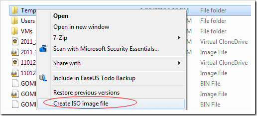 how you open an iso file