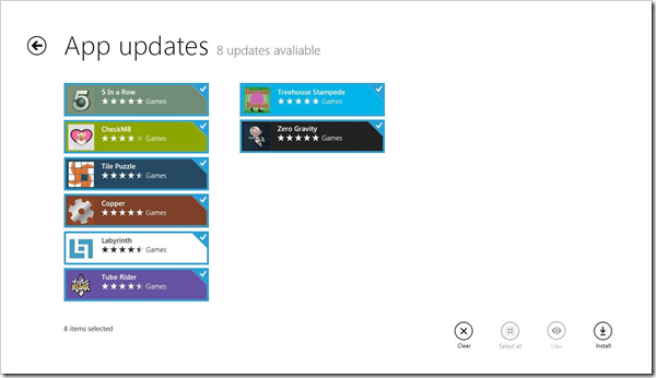 Windows store upating apps