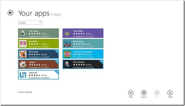 Windows store reacquiring apps