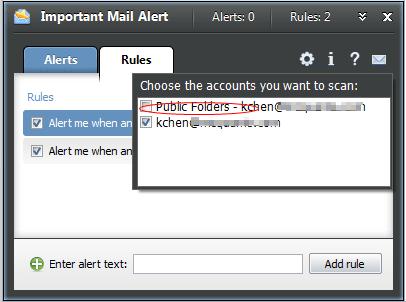 Important Mail Alert option