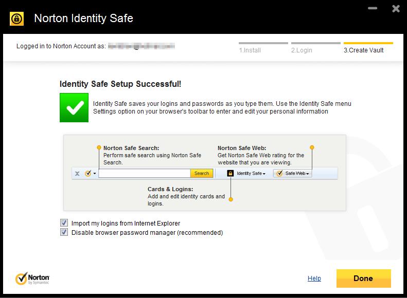 norton toolbar