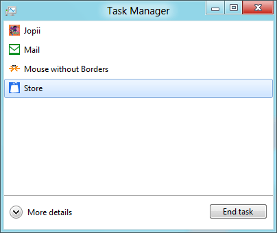 Closing app from Task Manager