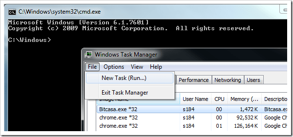 Opening A Dos Command Prompt Window From Task Manager - Next of Windows