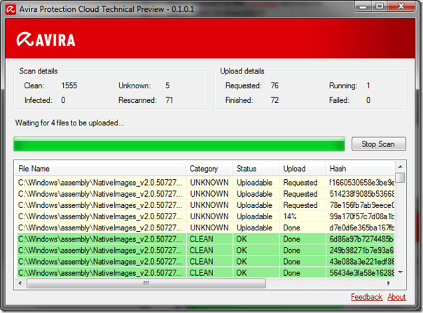 Avira Protection Cloud - Screen #1