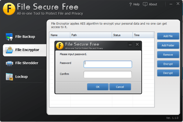 File Secure Free - File Encryption