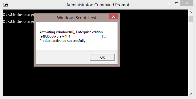 windows 8 pro product key command prompt