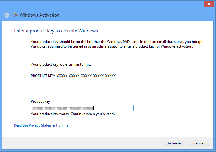 How to change windows 8 product key to complete activation for Window 8 1 product key