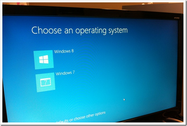 Windows 8 Dual Boot with Windows 7