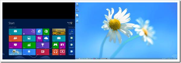 Windows 8 Dual Screen - Start screen and desktop