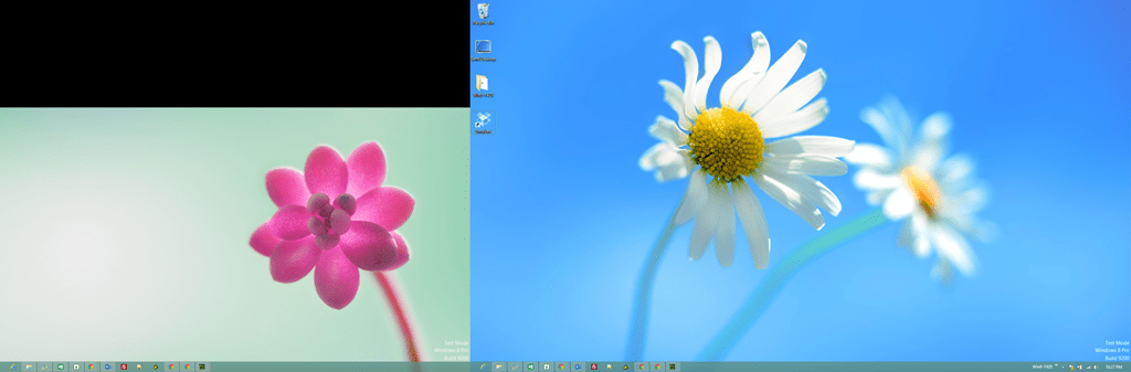 dual monitors windows 8