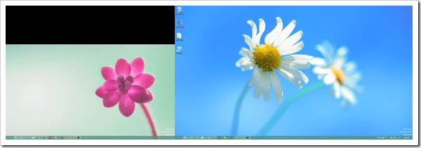 Windows 8 Dual Screen - different wallpaper