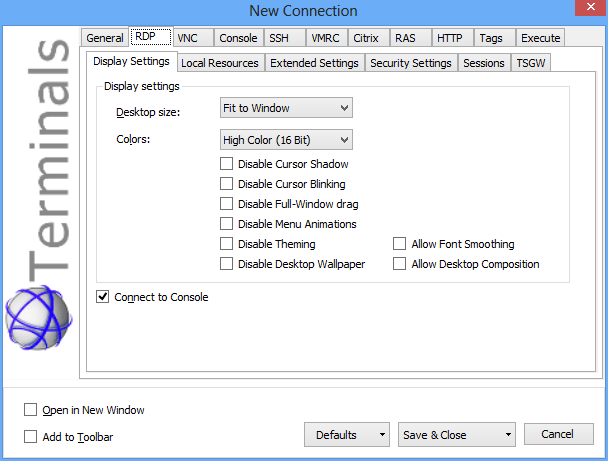 Top 3 Free Remote Desktop Connections Manager - Next of Windows Terminals is another feature rich, tab-based remote desktop clients manager  that uses Terminal Services Active Client (mstscax.dll).