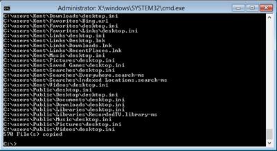 Windows 8 change default user profile xcopy