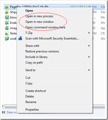 Shift-Right Click on object
