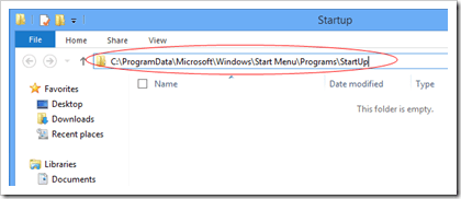 Windows 8 All User Startup location
