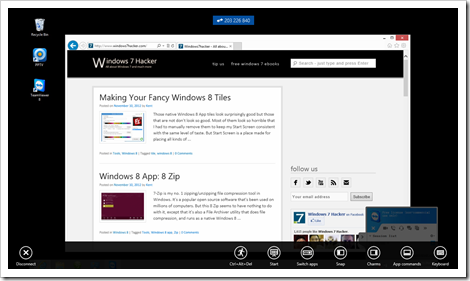 Windows 8 App - TeamViewer Touch - remote access